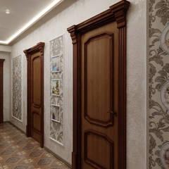 Классическая гостиная. Коридор, прихожая и лестница в классическом стиле от Цунёв_Дизайн. Студия интерьерных решений. Классический