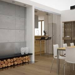 Projekt mieszkania Ustroń: styl , w kategorii Jadalnia zaprojektowany przez OES architekci