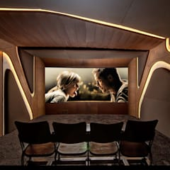 Media room by Barefoot Design