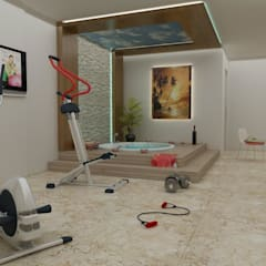 Fitnessruimte door CANSEL BOZKURT  interior architect