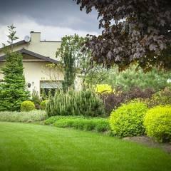 Ogród w okolicach Skierniewic - 3,5 tys. m2: styl , w kategorii Ogród zaprojektowany przez Pink Pug Design Interior