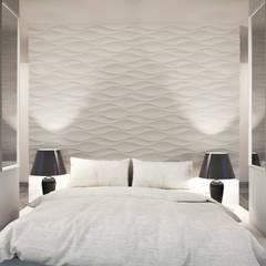 3D Wandpaneele - Design Nr. 24 FLOW:  Schlafzimmer von Loft Design System Deutschland