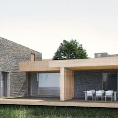 Atelye 70 Planners & Architects – New Sandima Houses Front View:  tarz Evler