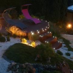 Gleen Tay: Jardin de style  par SAS Glenn Tay Paysagiste, Colonial