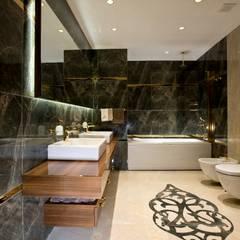 Yeşil Vadi Erguvan Evi, İstanbul. BABA MİMARLIK MÜHENDİSLİK Modern Banyo