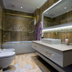 BABA MİMARLIK MÜHENDİSLİK – Yeşil Vadi Erguvan Evi, İstanbul.:  tarz Banyo