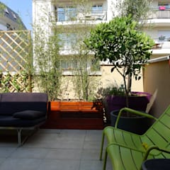 Bac bois: Terrasse de style  par Benji Paysage