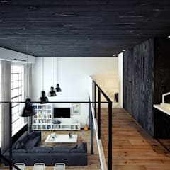 First Floor - A Beautiful Apartment in London by The Wood Galleries:  Walls by The Wood Galleries