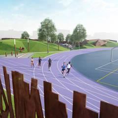 Piste d'athlétisme: Stades de style  par NAOM
