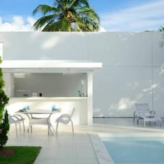 Casa Carqueija: Garagens e edículas minimalistas por dantasbento | Arquitetura + Design