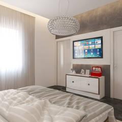 İNDEKSA Mimarlık İç Mimarlık İnşaat Taahüt Ltd.Şti. – Konut Projesi: modern tarz Yatak Odası