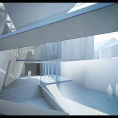 Divers Niveaux de Communication: Centre d'expositions de style  par H2A - Ir Architecte & Associés