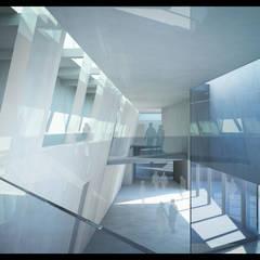 Le Forum tel des espaces déstructurés: Centre d'expositions de style  par H2A - Ir Architecte & Associés