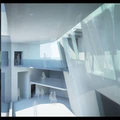 Le Centre d'Archives: Centre d'expositions de style  par H2A - Ir Architecte & Associés