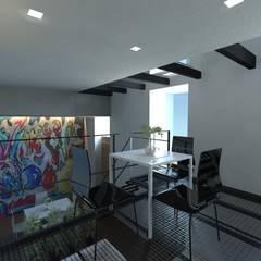 Loft G progetto: Cantina in stile  di gk architetti  (Carlo Andrea Gorelli+Keiko Kondo)