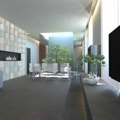 Ruang Keluarga Minimalis Oleh gk architetti (Carlo Andrea Gorelli+Keiko Kondo) Minimalis