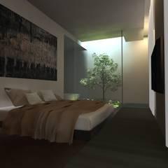 Kamar Tidur Minimalis Oleh gk architetti (Carlo Andrea Gorelli+Keiko Kondo) Minimalis