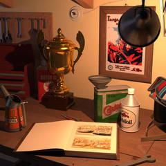 Garajes y galpones de estilo  por Native Design - Grafica 3d & Web design