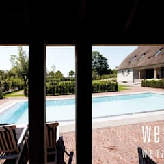 WENZdesign Poolhouse:  Tuin door WENZdesign