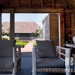 WENZdesign Poolhouse: rustiek & brocante Zwembad door WENZdesign