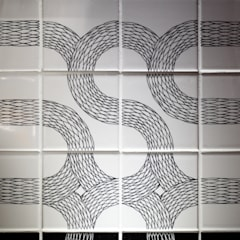 Ouroboros Tile installation at Canada Water Cafe, London:  Gastronomy by Peter Ibruegger Studio