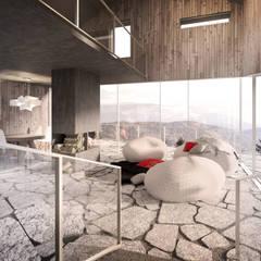 Salon de style  par Zalewski Architecture Group,
