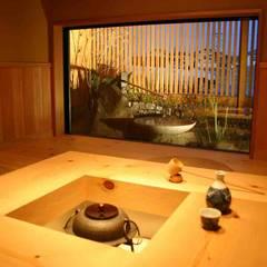 Media room by さんさい工房一級建築士事務所, Asian