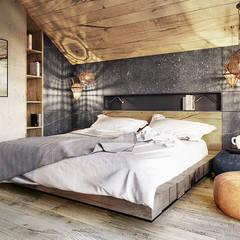 Bielsko-Biała, dom - 230m2: styl , w kategorii Sypialnia zaprojektowany przez razoo-architekci