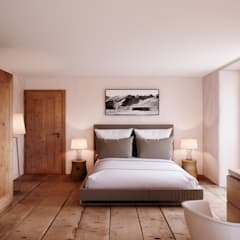 rustic Bedroom by von Mann Architektur GmbH
