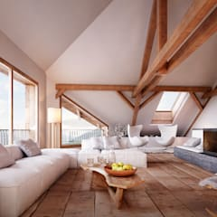 Living room by von Mann Architektur GmbH