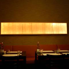 Akoestisch lichtpaneel in Indonesisch restaurant :  Gastronomie door Vilt aan Zee