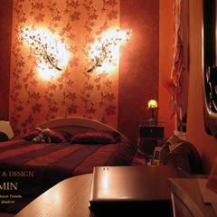 Будуар и спальня в одном флаконе:  в современный. Автор – ИП OLMIN - Архитектурная студия Олега Минакова, Модерн