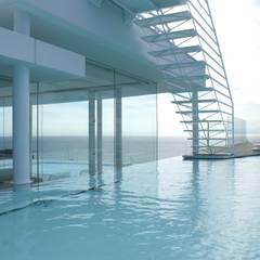 水の別荘: アトリエ T+Kが手掛けたプールです。