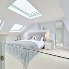 l-shaped loft conversion wimbledon:  Bedroom by nuspace