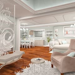 mediterranean Living room by İdea Mimarlık