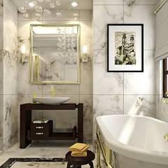 erenyan mimarlık proje&tasarım – MUTFAK VE BANYO TASARIMLAR: kırsal tarz tarz Banyo