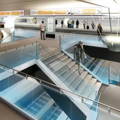 STATION DE METRO ARTS-LOI  A BRUXELLES: Centres commerciaux de style  par CERAU