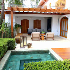 بلكونة أو شرفة تنفيذ MeyerCortez arquitetura & design, حداثي