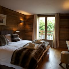 Chalet Chardon - chambre 2: Chambre de style de stile Rural par shep&kyles design