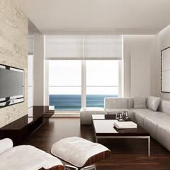 Apartament - Gdynia/ Prusa : styl , w kategorii Salon zaprojektowany przez living box