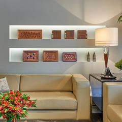 APARTAMENTO FUNCIONÁRIOS III: Salas de estar modernas por Gislene Lopes Arquitetura e Design de Interiores