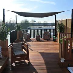 Renoparts Dakterras Showroom Vianen (Ut): mediterrane Tuin door Renoparts Vianen B.V. | Uw Dakterras Specialist