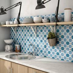 Caprice DECO Sapphire Colours 20x20: Cocinas de estilo  de Equipe Ceramicas