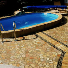 mediterranean Pool by Neues Gartendesign by Wentzel
