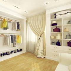 Vestidores y closets de estilo  por Tutto design