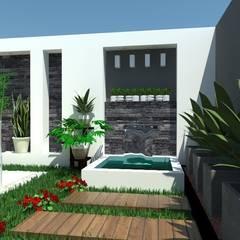 VALLE DE LAS PALMAS: Jardines de estilo minimalista por AurEa 34 -Arquitectura tu Espacio-