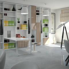 Ruang Kerja oleh Santoro Design Render, Modern