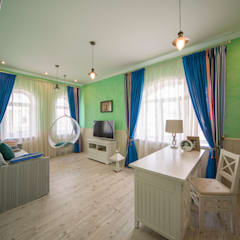 дом на берегу реки: Детские комнаты в . Автор – Дизайн мастерская Елены Тимченко, Эклектичный