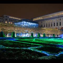 Mise en lumière événementielle du Mont des Arts à Bruxelles: Hôpitaux de style  par BY CORTEN FRYNS