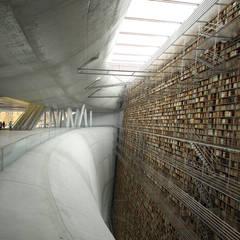 intérieur de la bibliothèque: Musées de style  par D3 architectes